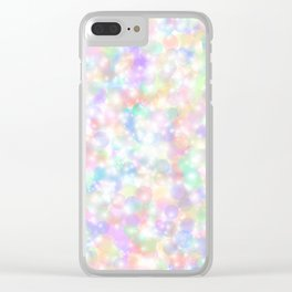 Rainbow Bubbles of Light Clear iPhone Case