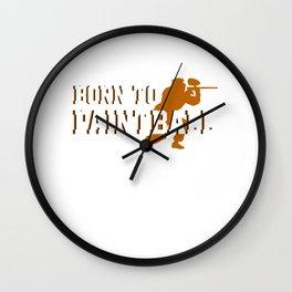 Born To Paintball Gun Marker Paintball Player Gift Wall Clock
