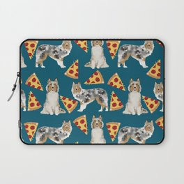 Sheltie shetland sheepdog pizza slices cheese pizzas dog breed pet friendly custom dogs Laptop Sleeve