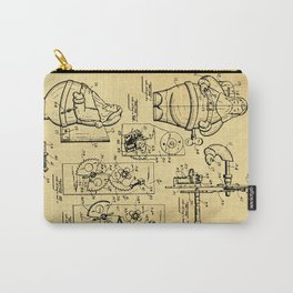 Santa Claus Bank Support Patent Drawing From 1953 Carry-All Pouch
