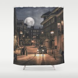 Harvest moon, London - United Kingdom Shower Curtain