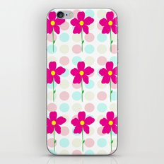 Flower.. Polka Dot iPhone & iPod Skin
