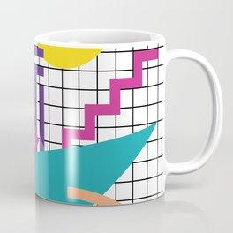 Memphis Pattern - 80s Retro White Coffee Mug