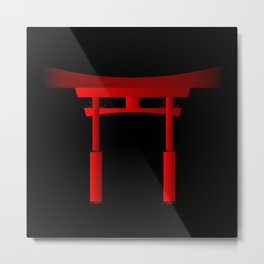 Japanese Tori Gate Metal Print