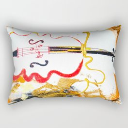 Immersed in Bach Partitas    by Kay Lipton Rectangular Pillow