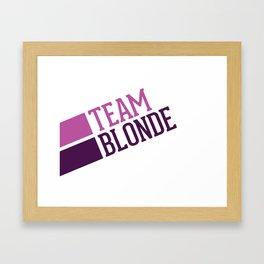 Blondes Logo Framed Art Print