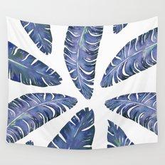 Tropical Banana Leaves Blue #society6 #buyart Wall Tapestry