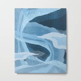 Shapes and Layers no.24 - Blues Metal Print