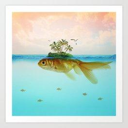 Goldfish Island II Art Print