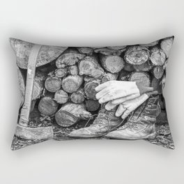 Manual Labor - Firewood 1 Rectangular Pillow