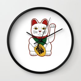 Maneki Neko - lucky cat Wall Clock