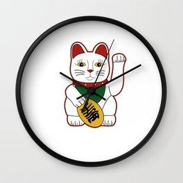 Maneki Neko - lucky cat Wall Clock