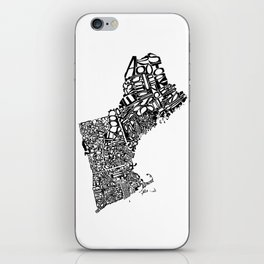 Typographic New England iPhone Skin