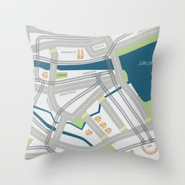 The Streets of Zurich Throw Pillow