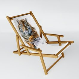 Tiger watercolor Sling Chair