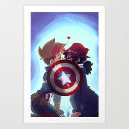 Captain & Carter Cosplay Art Print