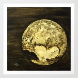 Universal Love from Pluto Art Print