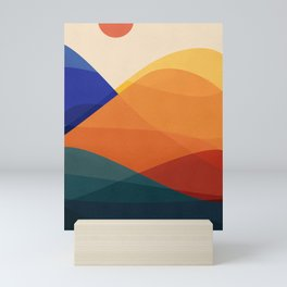 Meditative Mountains Mini Art Print
