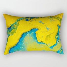 Return to paradise, acrylic on canvas Rectangular Pillow