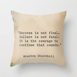Churchill quote 9 Throw Pillow