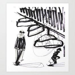 Ski time Art Print