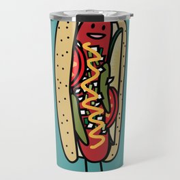 Happy Chicago Hot Dog Travel Mug