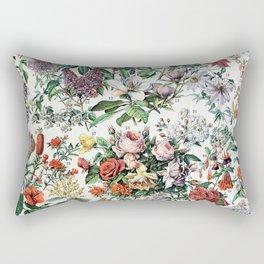 Adolphe Millot - Fleurs C - French vintage poster Rectangular Pillow