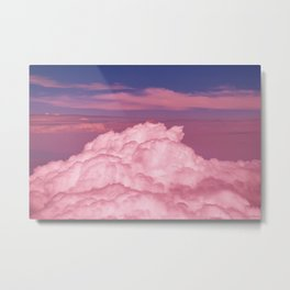 Pink Cotton Candy Clouds Metal Print