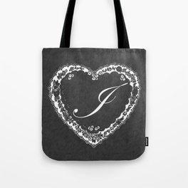 I Vintage Valentine Chalkboard Tote Bag