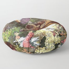 Alexander Zick - Snow White And Rose Red - Digital Remastered Edition Floor Pillow