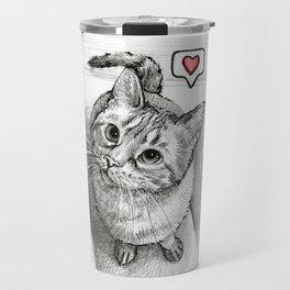 Cute Kitty Cat - Love Me Travel Mug