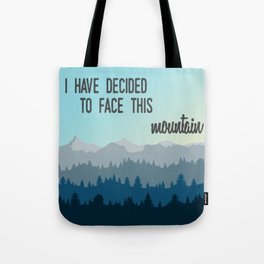 Face This Mountain (Jon Foreman Lyrics Illustration) Tote Bag