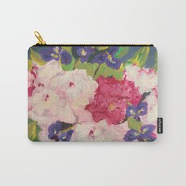 Peonies and Iris Carry-All Pouch