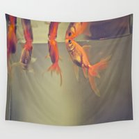breathe Wall Tapestries featuring Breathe. by Joëlle