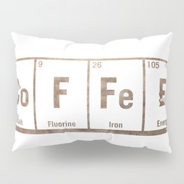Natural coffee science periodic table Pillow Sham