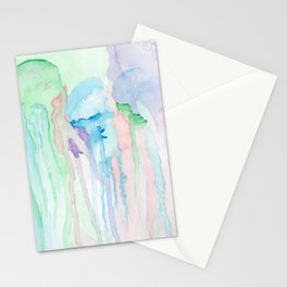 Watercolor Jellies Stationery Cards