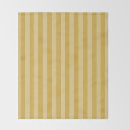 Large Two Tone Spicy Mustard Yellow Cabana Tent Stripe Throw Blanket