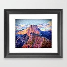 Half Dome Horizon Framed Art Print