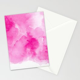 Hand painted magenta pink modern watercolor Stationery Cards