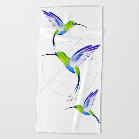 Under the Sign of Colibri Beach Towel