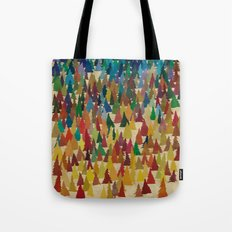 Colorful Conifers Tote Bag