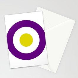 Retro Purple Mod Target Stationery Cards