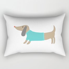 Cute hand drawn doggie Rectangular Pillow