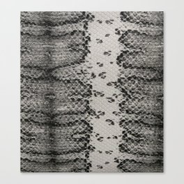 Snake Skin in Grey and Black Canvas Print