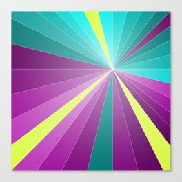 Rays abstract Canvas Print