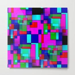 rectangles on black - seamless Metal Print