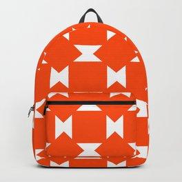 Orange Pattern Backpack