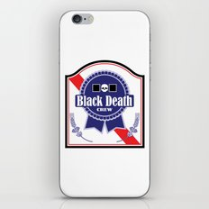 Black Death Ribbon (Color) iPhone & iPod Skin