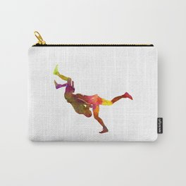 Wrestlers wrestling men 02 in watercolor Carry-All Pouch