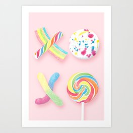 XOXO, Candy Art Print